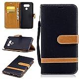 Qiaogle Téléphone Coque - PU Cuir Rabat Wallet Housse Case pour LG G6 (5.7 Pouce) - BF02 / Denim...