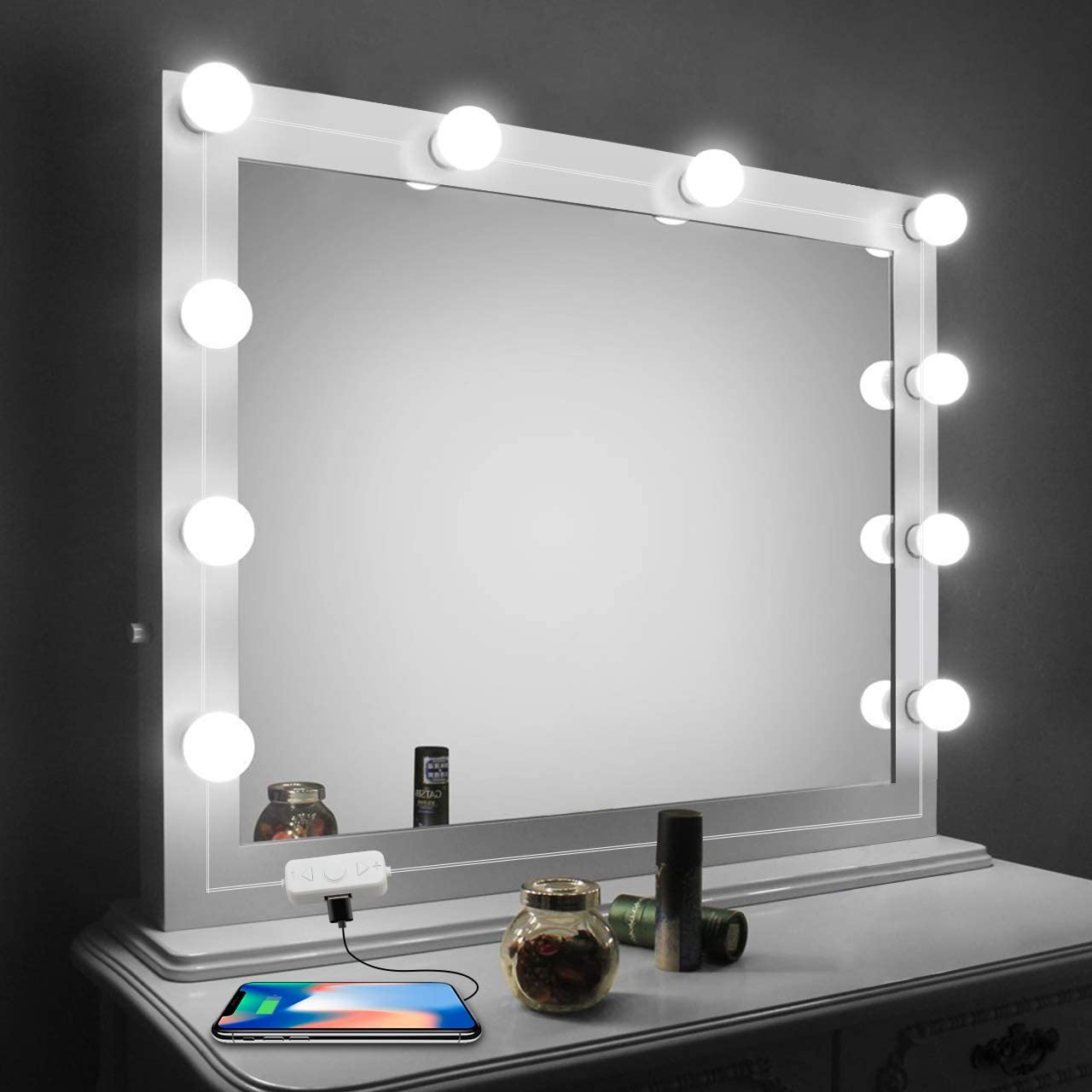 Buy Vanity Mirror Lights Kit Led Lights For Mirror With Dimmer And Usb Phone Charger Led Makeup Mirror Lights Kit Hollywood Style Lighting Fixture Strip 6500k For Bathroom Dressing Room Vanity Table Online In