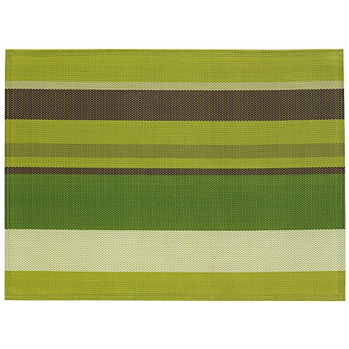 Kela 15622 Neta Set de table PVC/Polyester Vert 45 x 30 x 1 cm
