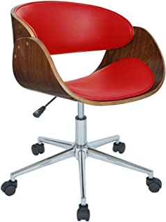 Home Monroe Adjustable Office Chair 360 Degree Swivel, Red