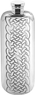 English Pewter Company 3oz Celtic Design Slimline Top Pocket Liquor Hip Flask [CEL175]