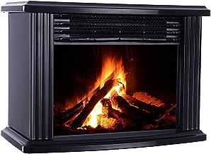 Sahgsa Chimenea Eléctrica Classic Flame, Calefactor Termoventilador Llama Decorativa, Chimenea portátil Calefactor de Espacio