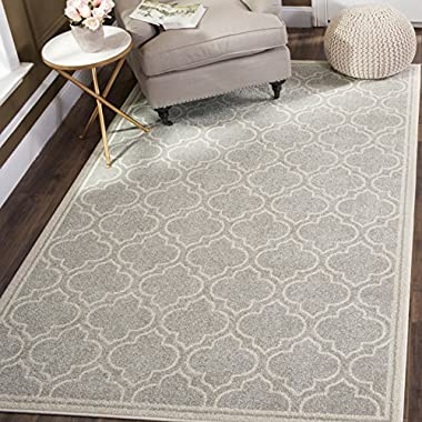 Safavieh Amherst Collection AMT412B Light Grey and Ivory Indoor/Outdoor Area Rug (3' x 5')
