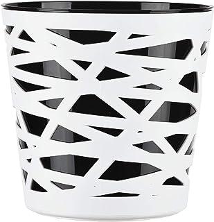 KADAX - Maceta redonda de plástico, macetero para flores, plantas, balcón, macetero para interiores, maceta ligera y moderna