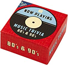 Talking Tables Now Playing Games Music Trivia Game for a Dinner Party or General Celebration, Multicolor