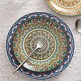 Vancasso Tafelservice Porzellan, Mandala 32 teiliges Essgeschirr Kombiservice, handbemaltes Geschirrset für 8 Personen, böhmischer Stil - 7
