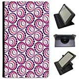 Fancy A Snuggle Violet Scrapbooking Fonds d'écran en Simili Cuir Folio Presenter Coque Sac avec Support de visionnage pour tablettes Samsung Samsung Galaxy Tab 4 7 inch Purple Red Circle Spirals