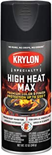 Krylon K01607000 High Heat Max, Black, Gloss, 12 ounce