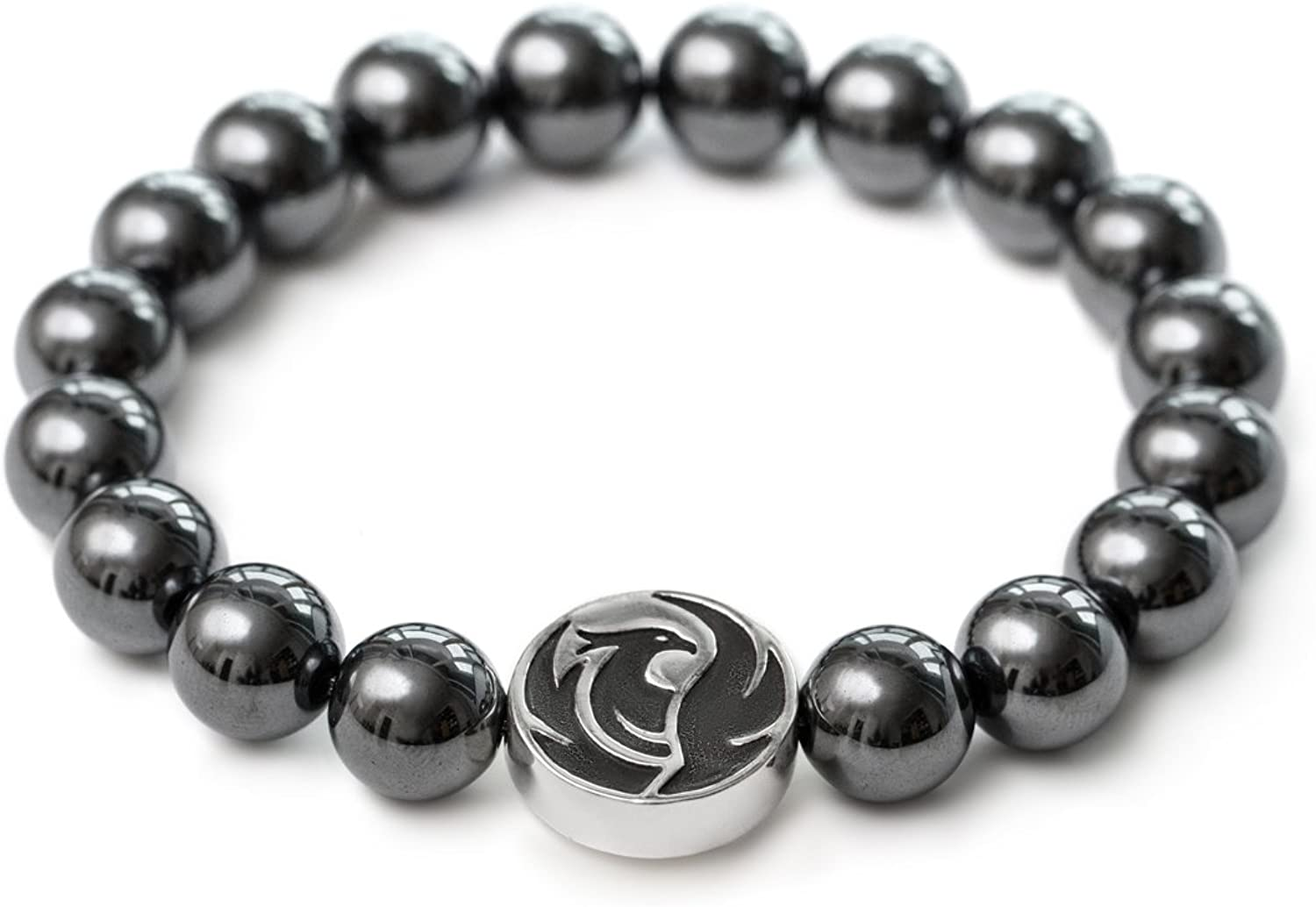 Fit Selection Phoenix At the Max 53% OFF price Hematite Bracelet Silver Sterling Solid 92