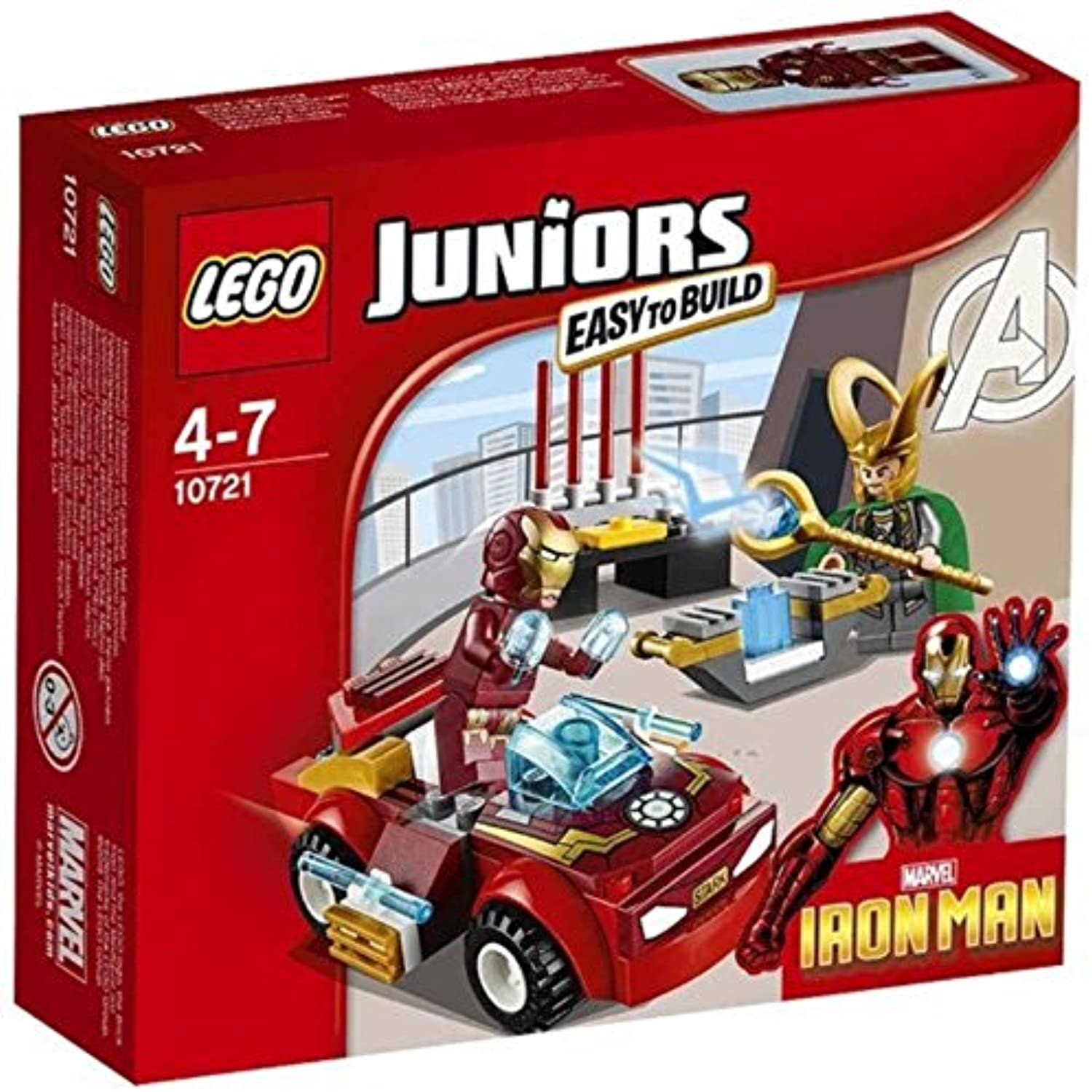 LEGO 10721 Juniors Iron Man vs Loki Playset