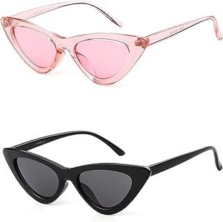 Retro Vintage Cateye Sunglasses for Women Clout Goggles Plastic Frame Glasses