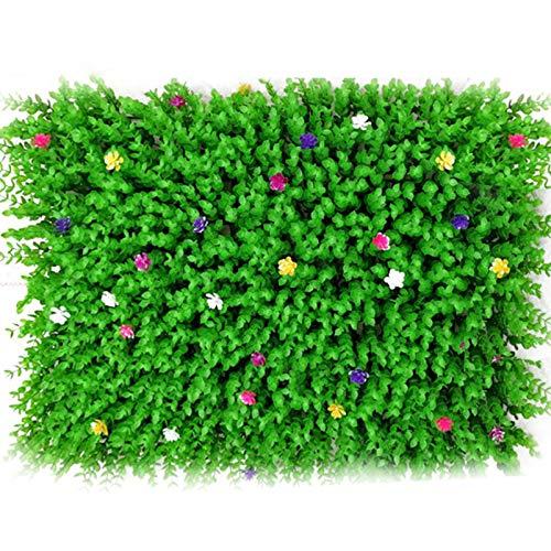 QIAOH Jardín Vertical Artificial Pared Césped Planta 20PCS, Flor Cesped Plantas Guirnalda Decorativa para Decoración Hogar De Pared Escalera Ventana Balcón Valla Jardín