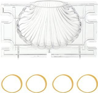ARTIBETTER 3D Seashell Candle Mold Acrylic Scented Candle Mold Candle Making Aromatherapy Plaster Molds Scallop Soap Mold ...