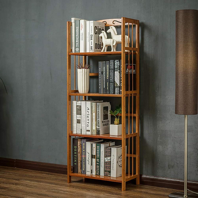 Simple Wooden Multi-Layer Bookshelf, Open Shelf Storage Organizer Floor-Standing Tree Shaped Multipurpose for Home or Office -E 127x50x25cm(50x20x10)