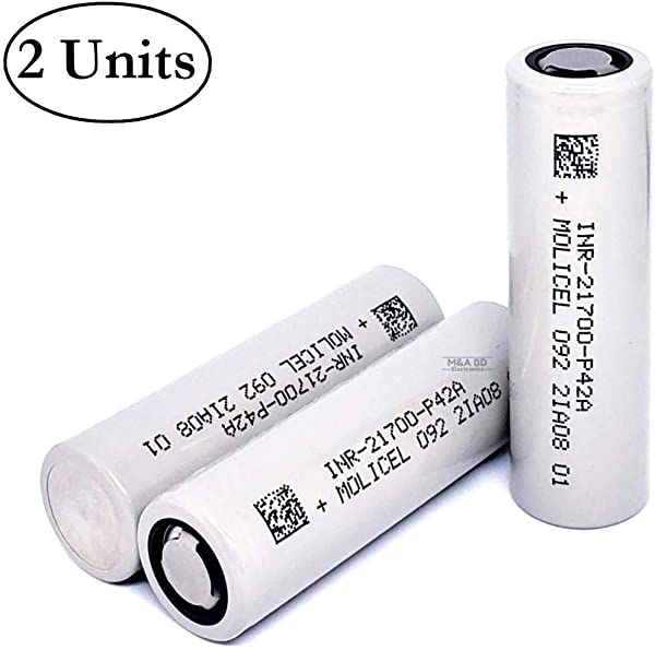 2 Pack Of P42A 4200mAh 3 7V 45A Rechargeable Flat Top Li Ion INR21700 Battery Compatible With Molicel Batteries For Electric Tools Toys LED Flashlights