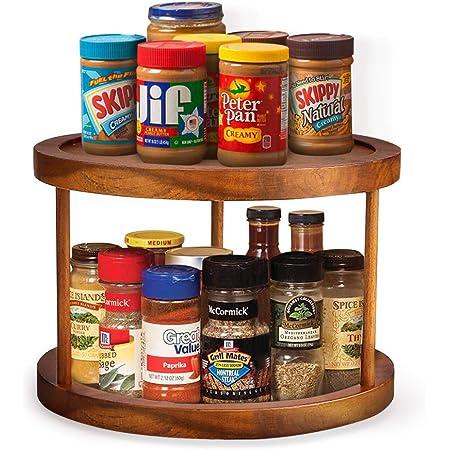 estante de especias giratorio multifuncional para almacenamiento de cocina Organizador giratorio Lazy Susan especias y suministros para hornear