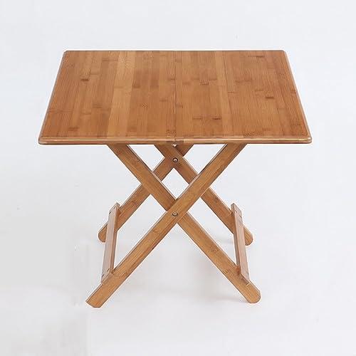 Table pliante réglable Table carrée Table à Manger Mobile Table de Stockage à Domicile Table d'ordinateur Portable Peut être tourné (Taille   80  80  75CM)