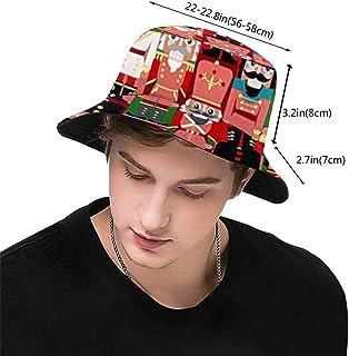 htrewtregregre Nutcracker Toy Soldiers Bucket Hat Fisherman Hats Sombreros de Pescador Summer Reversible Packable Cap Sun Cap Hip Pop Hat