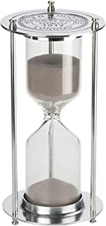 Hourglass『60 Minutes 』Sand Timer, KSMA Metal Sandglass One Hour Glass for Office Study Bedroom Living Room Christmas Gift Wedding