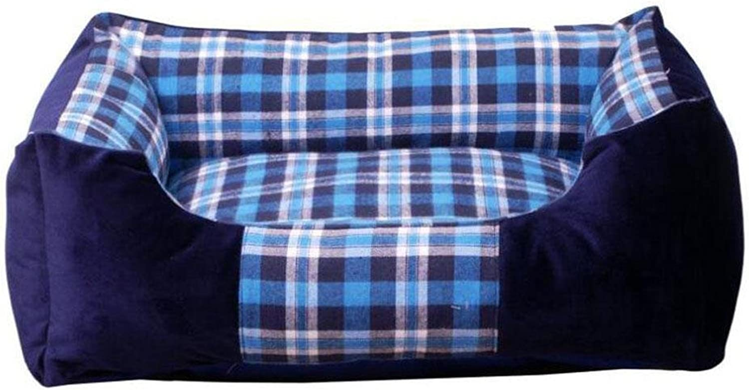CHWWO Lattice Kennel Comfortable Thick Warm Pet Bed Biteresistant Removable Dog Cushion