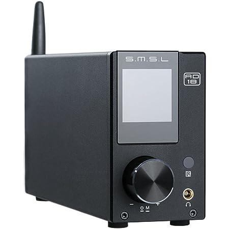 SMSL AD18 Hifi Amplificateur Stéréo Audio avec Bluetooth 4.2 Supporte Apt-X, USB DSP Full Digital Power Amplifier 2.1, Petit Amplificateur 80Wx2 Classe D Avec Sortie de Subwoofer