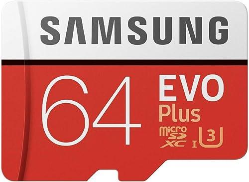 Samsung MB-MC64GA/EU EVO Plus 64 GB microSDXC UHS-I U3 Speicherkarte inkl. SD-Adapter Rot/Weiß product image