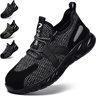 Safety Shoes Men Women Safety Trainers Lightweight Steel Toe Cap Work Shoes Breathable Non-Slip Industrial Sneakers Footwear
