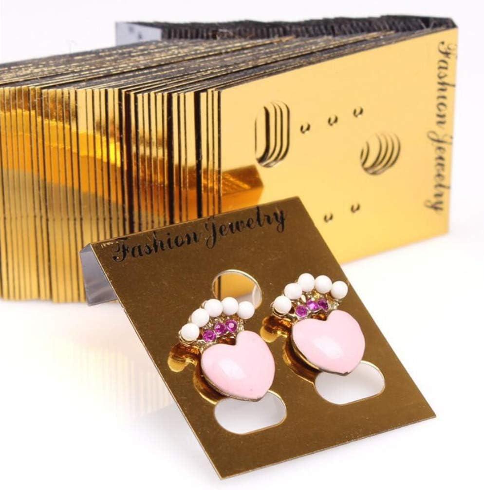 Noir H HILABEE 1000x Carte de Boucles doreilles Carte Affichage de Collier Clous doreilles Gros Emballage de Bijoux