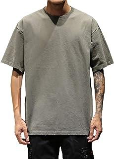 76fc094b92b Vectry Hombre Verano Casual Color Sólido O-Cuello Manga Corta TamañO Grande  Camiseta Blusa Blusa