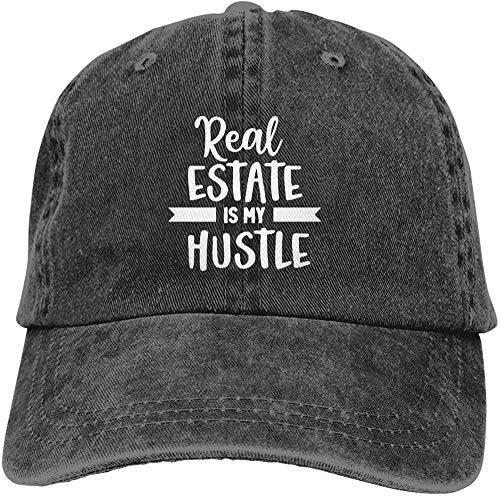 XTTGGD Real Estate Is My Hustle Gorra Suave Unisex Gorra de Moda Gorra de béisbol Ajustable Vintage...