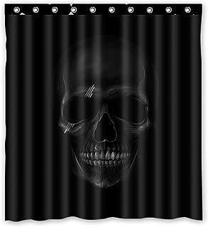 KXMDXA Cool Design Dark Skull Waterproof Polyester Bath Shower Curtain Size 60x72 Inch