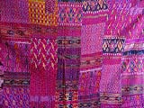 Twin / King Indian Bettdecke Ethnic Throws Patchwork Indian Quilt Cover Alte böhmische Seide Saree Kantha Tagesdecke Vintage Patola Quilt (Pink, King 90