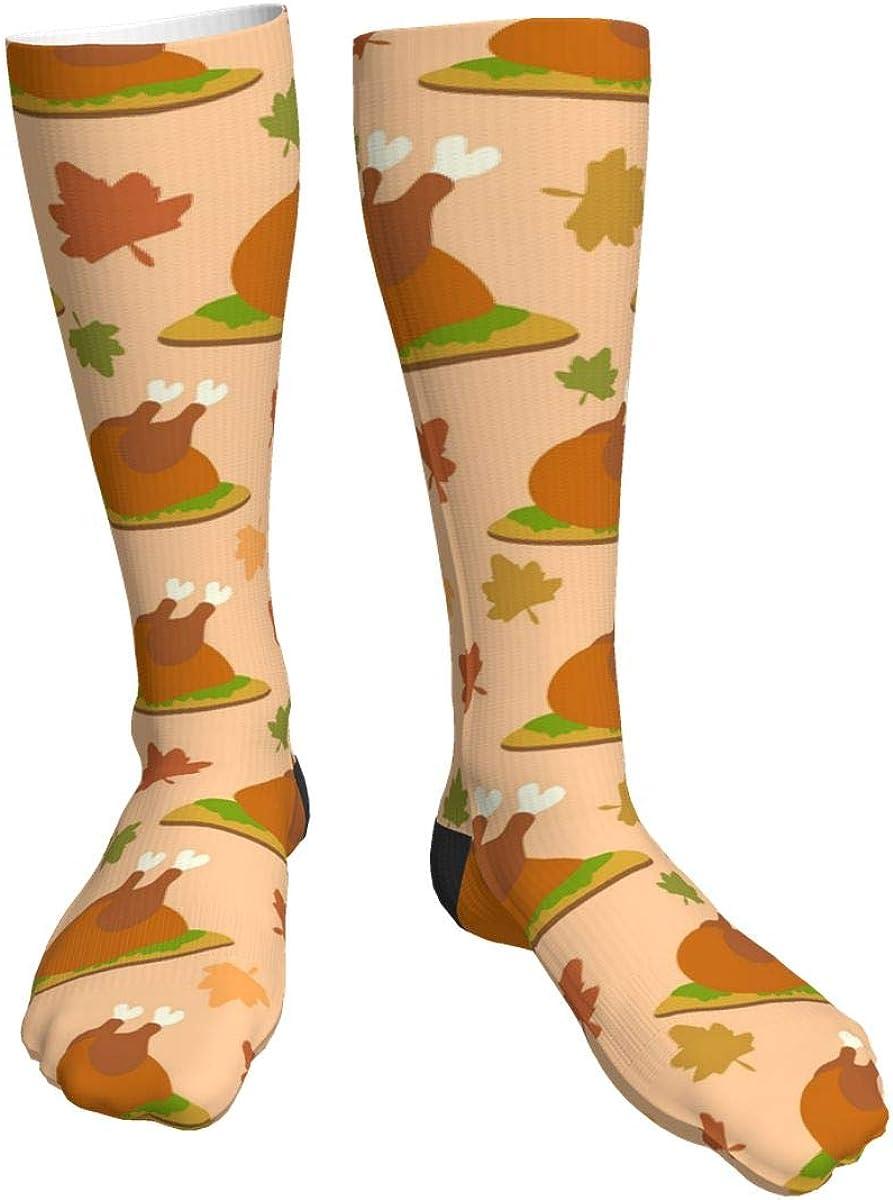 Unisex Novelty Crew Socks,Pumpkins Thanksgiving Festive High Stockings Warm Thick Knit Soft Casual Socks