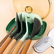 Bikitso Multiple UtensilLid and Spoon Restfor Kitchen Counterwith Cleaning BrushKitchen Counterwith Cleaning Brush