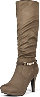 DREAM PAIRS Sarah Women's Platform High Heels Fashion Boots