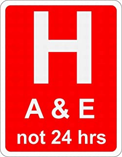 LoMall Hospital Ahead with Accident and Emergency Facilities Road Safety Sign Notice Warning 8x12 Tin Metal Sign Decor