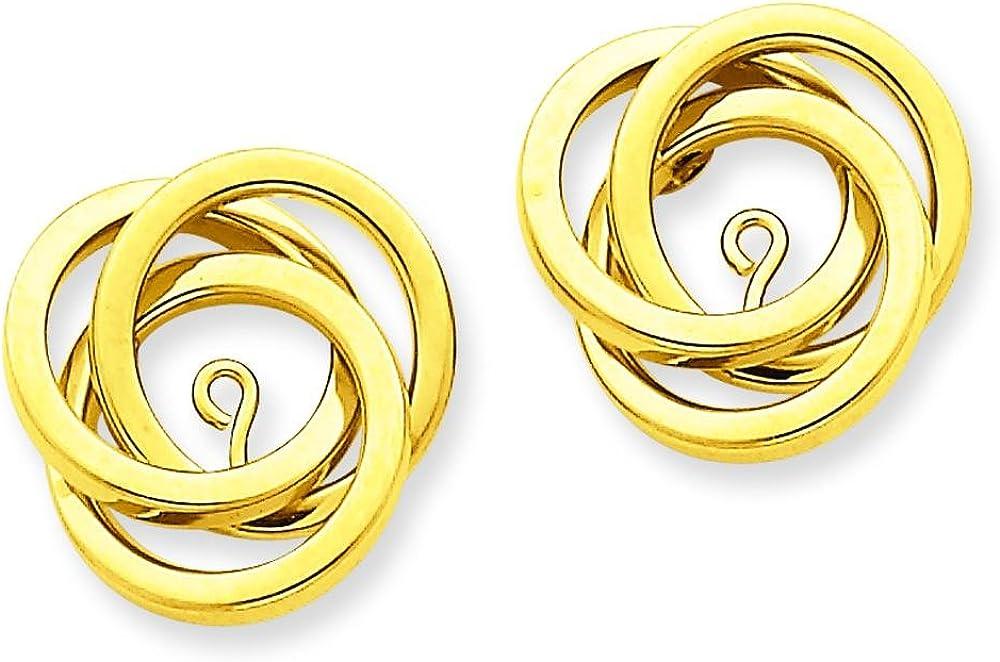 14K Gold Love Knot Earring Jackets Polished Jewelry