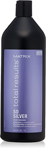 MATRIX Total Results So Silver Color Depositing Purple Shampoo for Neutralizing Yellow Tones | Tones Blonde & Silver ...