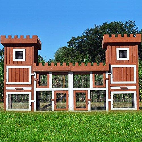 Zooprimus Kaninchenstall 18 Hasenkäfig - FREILANDBURG - Stall für Außenbereich (für Kleintiere: Hasen, Kaninchen, Meerschweinchen usw.)