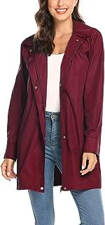 Avoogue Women's Raincoat Lightweight Waterproof Rain Jacket Hoodie Active Rain Coat