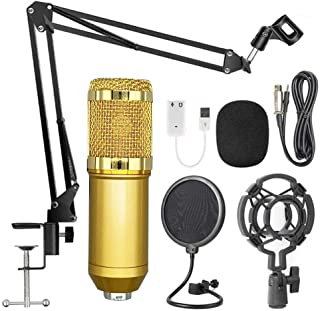 QOZY USB Condenser Microphone Kit, Podcast Mic Set, Recording Equipment, for Studio Gaming PC Broadcasting Livestreaming V...