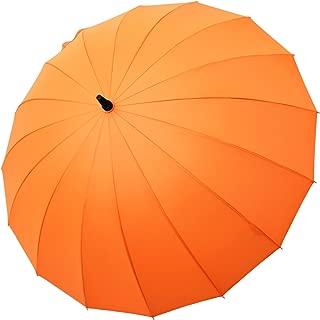 Saiveina 47 Inch Auto Open Straight Strong Durable Umbrella, 190T Fiber Waterproof Windproof Sport Umbrella 16 Ribs