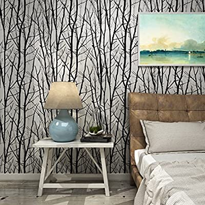 Dorfin Flower Pattern Wallpaper Floral Rose Peel and Stick Wallpaper Décor (57 Square Feet)