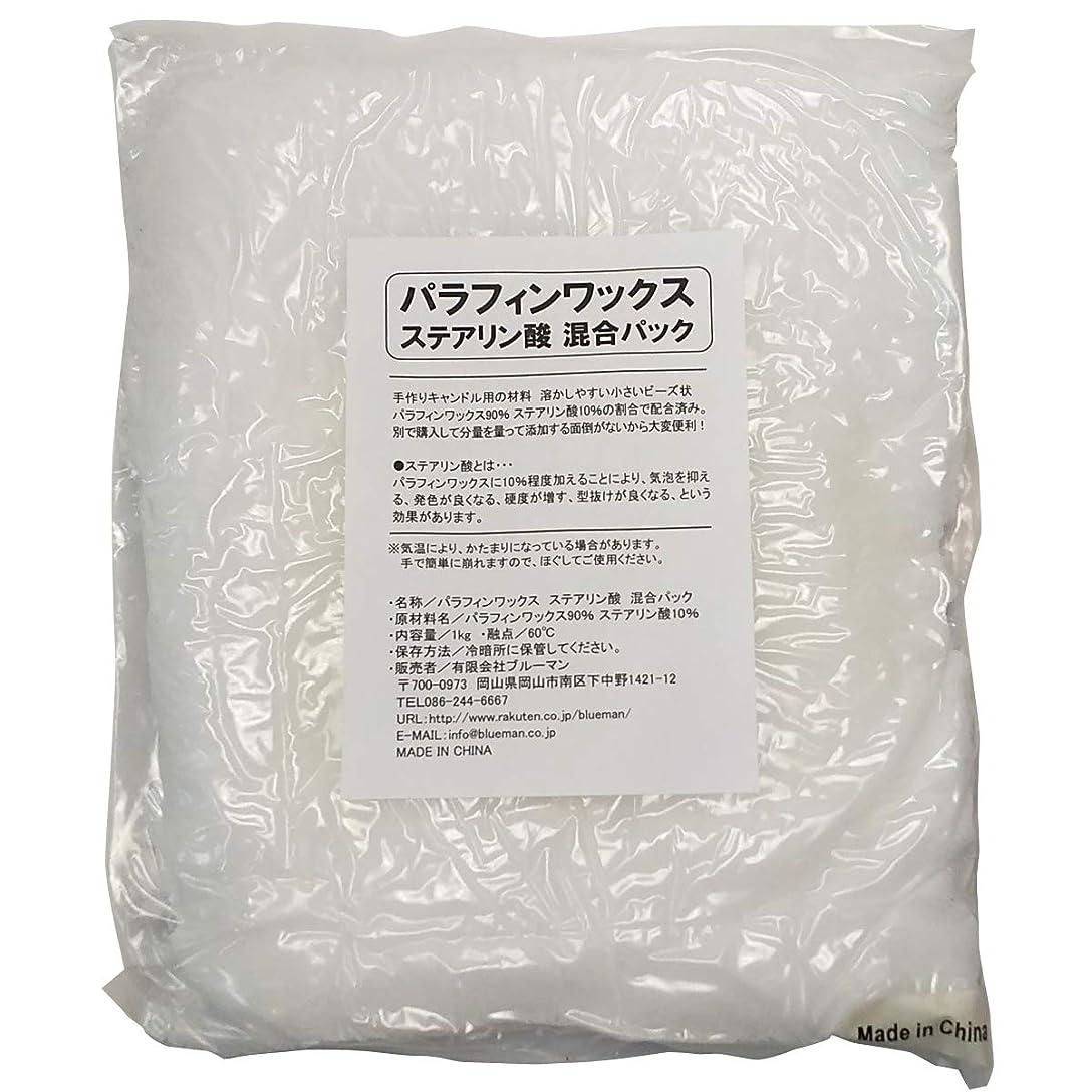 神秘容量その他パラフィンワックス ステアリン酸 混合パック 1kg 手作りキャンドル 材料 1キロ アロマワックスサシェ