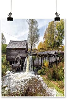 for Home Decoration Ancient Water Mill from The Village Krasnikovo Kursk Region Russia Built in for Home Decoration No Frame,12