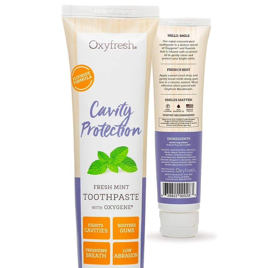 パスタスキニー成長するOxyfresh Fluoride Toothpaste: For Long-Lasting Fresh Breath & Healthy Gums. Dentist recommended. No Artificial Colors, Low-Abrasion. by Oxyfresh