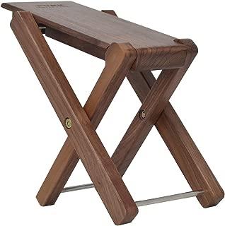 Guitar Footstool Solid Wood Guitar Pedal Guitar Foot Rest Stool Pedal 4-Level Adjustable Folding Wood Footstool Pedal
