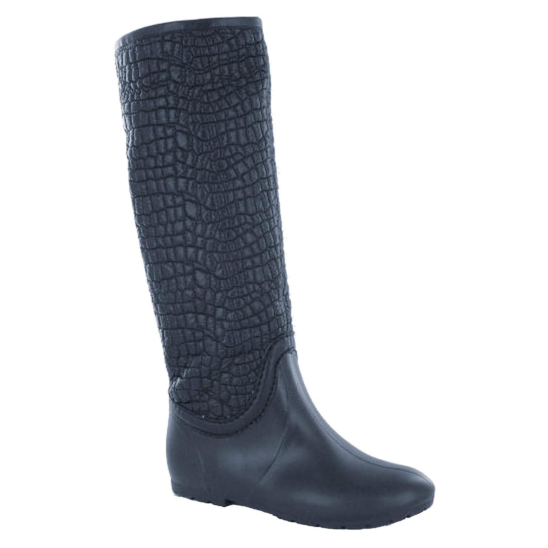 最近敬リフレッシュ[Spot On] スポットオン レディース クロコダイル柄 ウェリントンブーツ 婦人長靴 レインブーツ 女性用