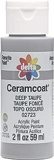 Delta Creative 02723 Ceramcoat Acrylic Paint, 2 oz, Deep Taupe