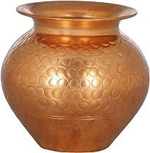 Designer Copper Puja Kalash - Copper